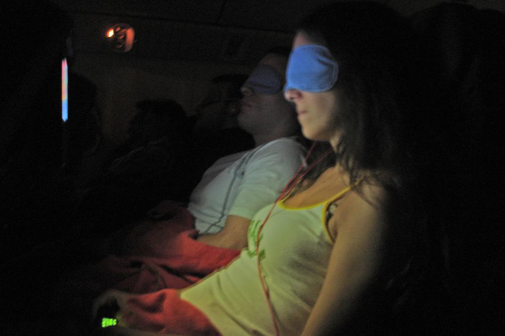Sleep Mask - The Essential Travel Gear for Long Haul Flights - image by FLickr user Christophe Laurent