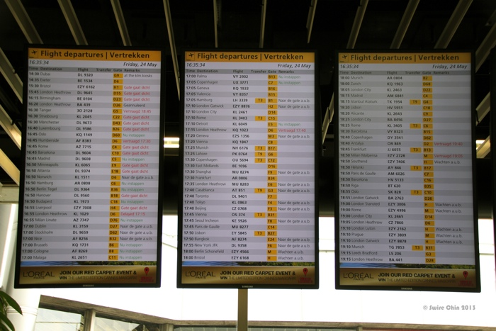 Airport Departure board image by Flickr user - Canadian Pacific - Tips for Traveling in the Winter Months