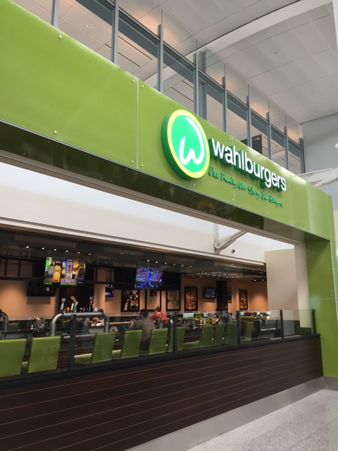 Walhburgers restaurant in Pearson Airport Toronto - Airport Layover- Toronto Pearson International Airport