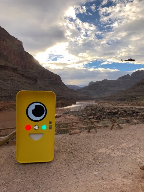 Snapchat Spectacles bot in the Grand Canyon - image credit Snap Inc