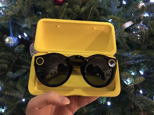 Snapchat Spectacles in the charging case