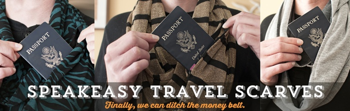 Speakeasy Travel Scarves - The Best Christmas Gifts for Travelers