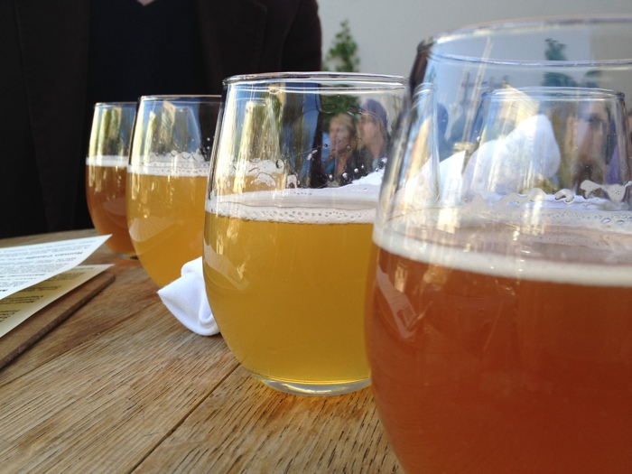 Beer sampler at Bellwoods Brewery in Toronto - photo credit Cailin O'Neil