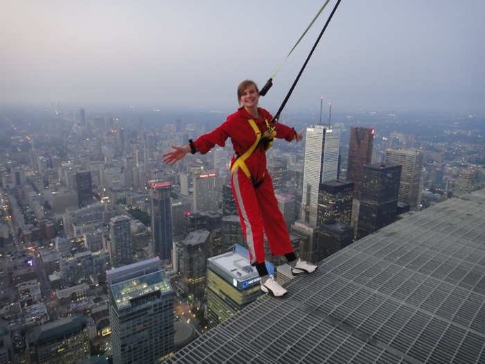 The Edge Walk at the CN Tower Toronto - photo credit Flickr user wschraml