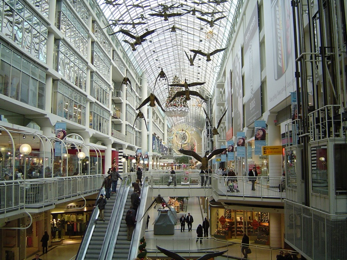 The Toronto Eaton Centre - photo credit flickr user Alex Leung