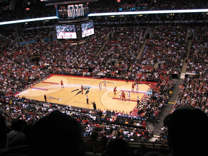The Toronto Raptors NBA play the Skydome - photo by flickr user Hwan Hong