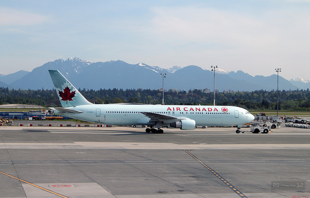 an air canada flight departs vancouver airport - image by flickr user Canadian Pacific